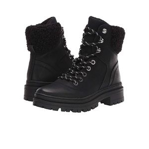 Steve Madden Keystone Boot faux fur lace up